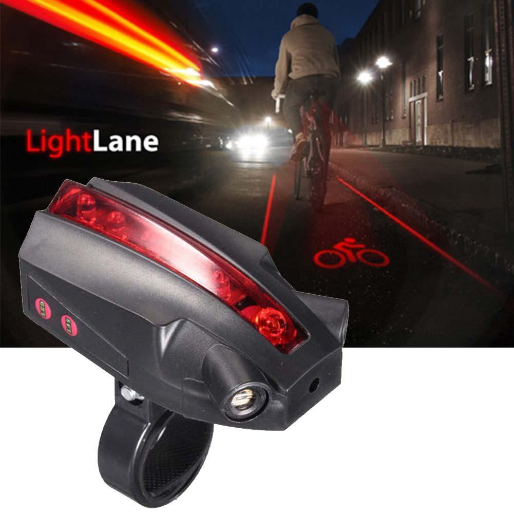 2 Laser 5 LED Popular Safety Warning Rear Bicycle Tail Light Beam Red Lamp Bike Accessories Super Bright IBIKE
