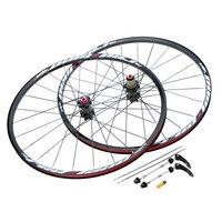 26'' 24H Disc Brake Bike Wheel Mountain Bicycle MTB Bike Wheelset Hubs Rim Front Rear Bicycle Wheel Set