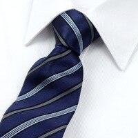 2017 망 넥타이 100% 실크 자카드 넥타이 7 센치메터 격자 무늬 및 스트라이프 넥타이 남성 정장 비즈니스 웨딩 파티 Gravatas