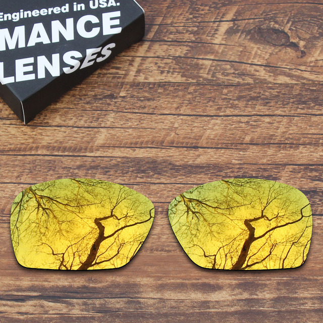 5376f70c62a ToughAsNails Polarized Replacement Lenses for Oakley Plaintiff Squared  Sunglasses Gold Mirrored Color (Lens Only)