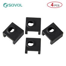 4pcs 3D Printer Parts Heater Block Silicone Heater Protect Silicone Cover for Creality CR-10 Mini S4,S5 Ender 3 MK7/MK8/MK9