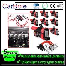 CarBole 8PCS Round UF262 Ignition Coils+ 6PCS Spark Plug Wires  for Chevrolet GMC 5.3L 6.0L 4.8L C1251 UF-262