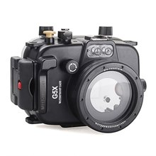 Meikon 40m/130ft Underwater Diving Camera Housing for Canon G5X