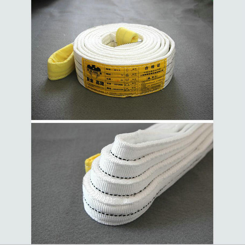 100% Polyester Lifting Flat Webbing Sling Lifting Eye-Eye Belt_0006
