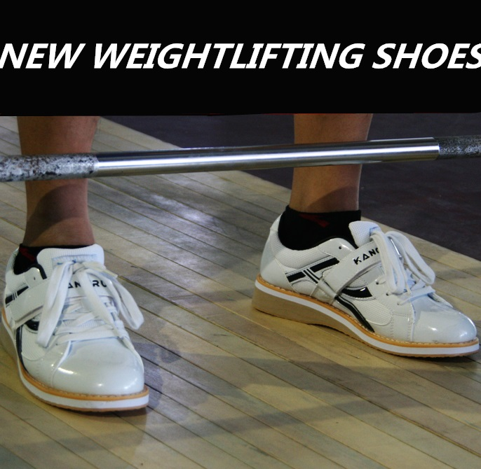 Kangrui High Quality Professional Weightlifting Shoes Squat Training Leather Anti Slip Resistant Weight Lifting Shoes