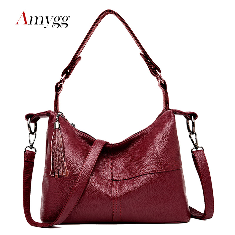 28a534561aec Soft Pu Leather Hobo Bag Women Handbags Fashion Small Tassel Bag Women  Messenger Bags Casual Shoulder Crossbody Bags For Women