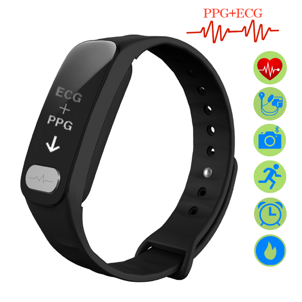 ZUCOOR Smart Band Bracelet Fitness Cardiaco ECG PPG Wearable Devices Bracelets RB66 Heart Rate Monitor Sport Bluetooth Men Watch