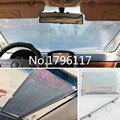 Foldable Former Block Retractable Protector Car Auto Curtain Rear Side Window Screen Mesh Roller Shield Sun Shade Net 58x125cm