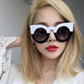 AFOFOO Fashion Women Cat Eye Sunglasses Luxury Brand Designer Laides Round Lens Mirror Sun glasses Female UV400 Shades Eyewear