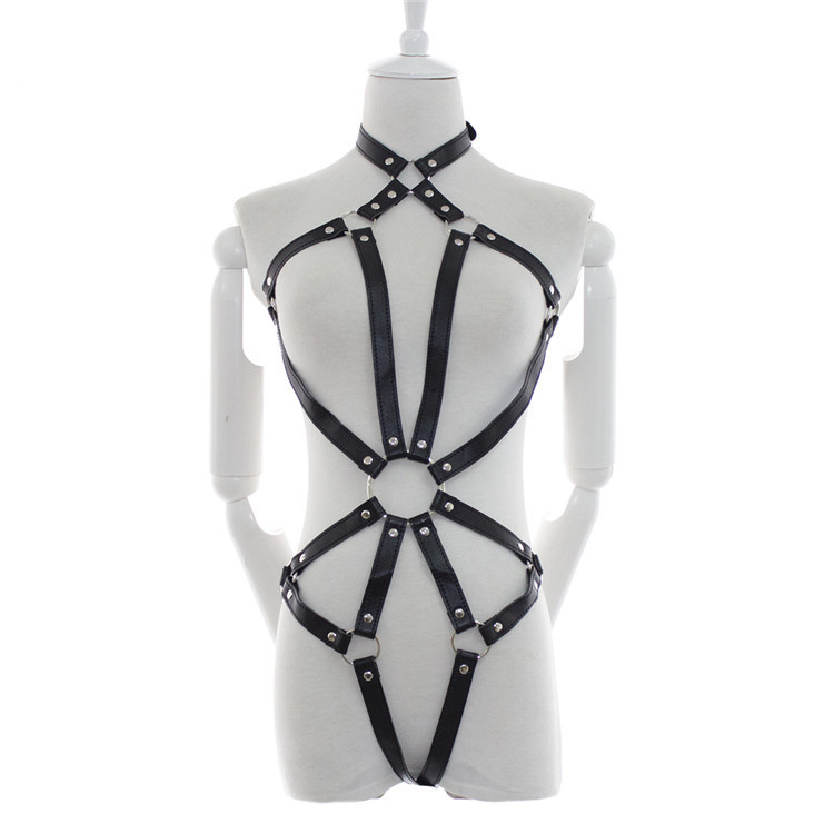 Hot Sexy Faux Leather Lingerie Women Bandage sex product sex Game Costume SM Sexy Leather Harness Body Waist strap