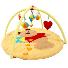 Baby Activity Gym Mat Soft Infant Floor Carpet 3D Activity Play Mat Center Babygym Toys Gift 90*90*50cm цена