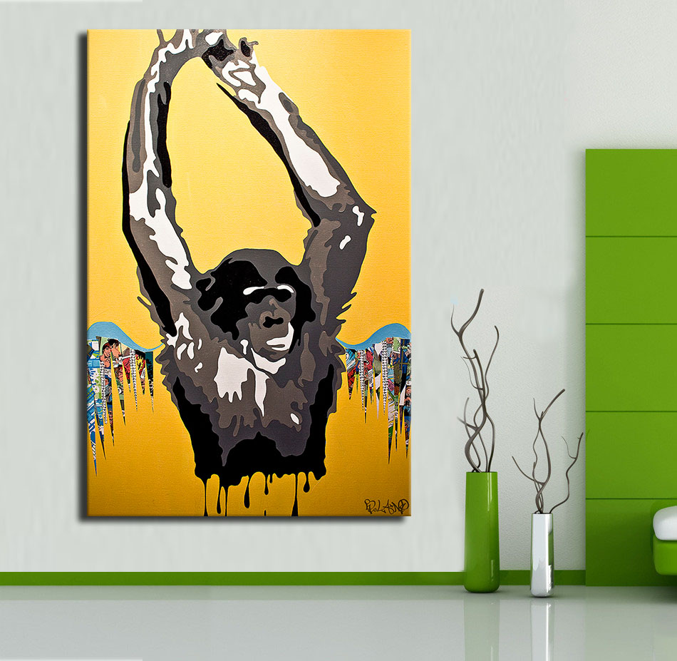 Huge hd Wall art Painting picture Free shipment Cantstop Goodboy ...