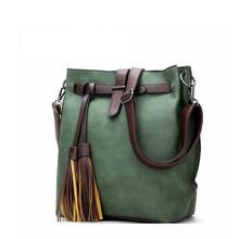 Explosion Models Womens PU Leather Handbag Fashion Design Style Black Bucket Retro Shoulder Bag Ladies Messenger