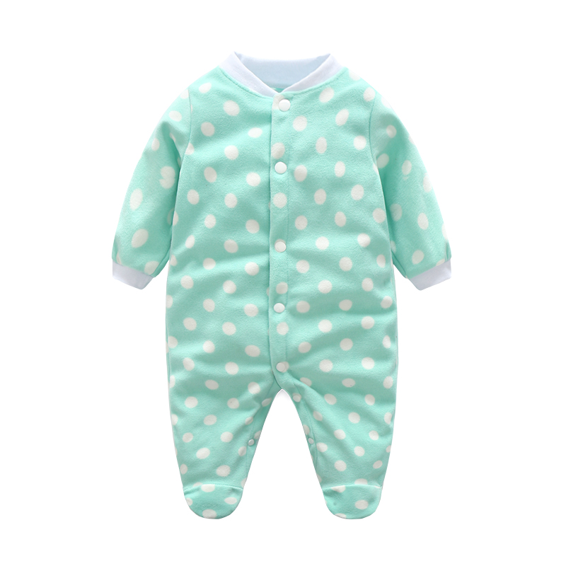 Newborn Baby Clothing Boy Girl Footed Rompers Animal Baby Romper Long Sleeve Fleece Sleep Clothes Pajamas New born Baby Product mother nest newly 2016 long sleeve baby clothing baby boy girl wear pink polka dot newborn baby overall clothes baby rompers