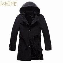 Winter jacket thicken fashion mens woolen coat men's outerwear and trench coat erkek mont