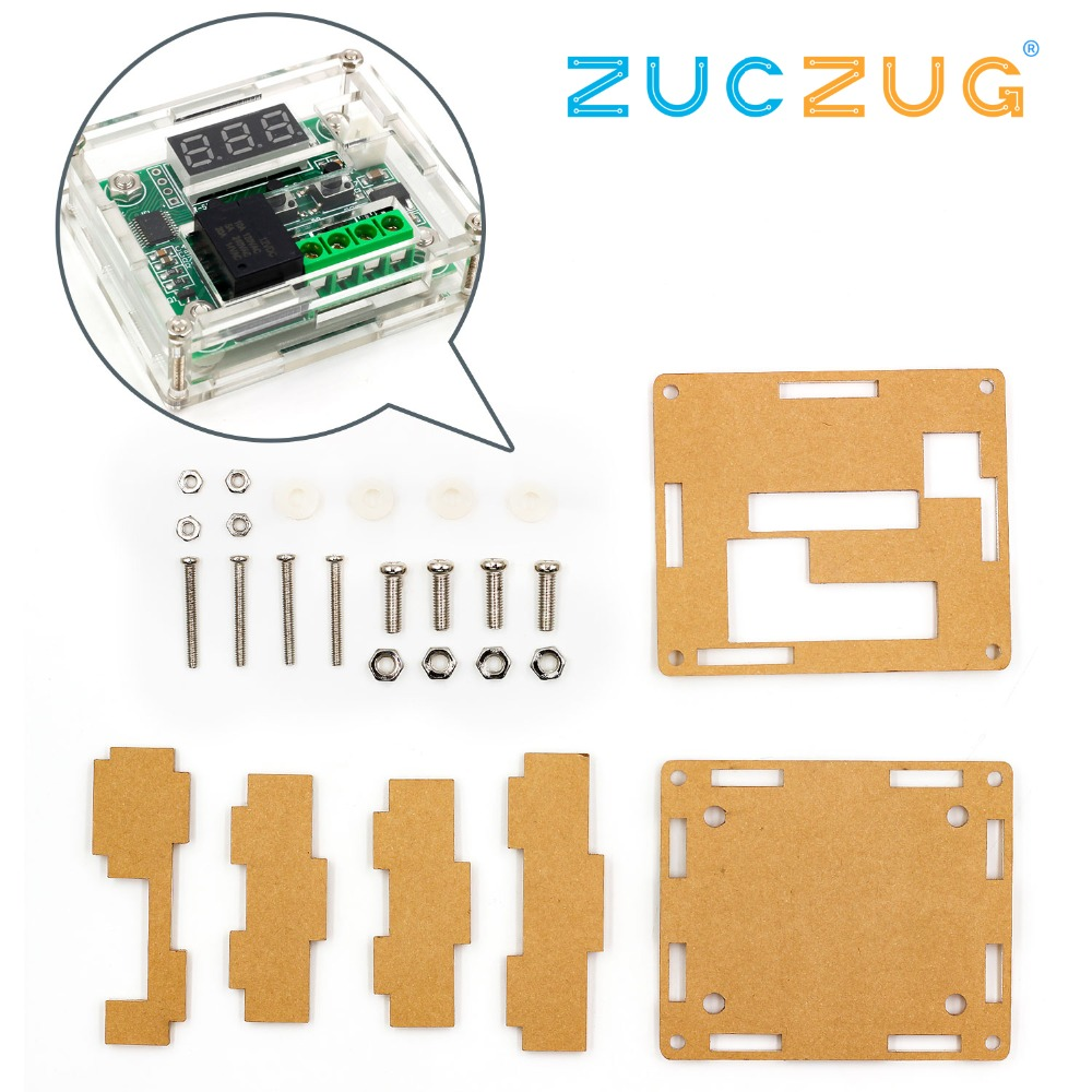 Clear Acrylic Case Shell Housing For W1209 Digital LED DC 12V Temp Thermostat Temperature Control Switch