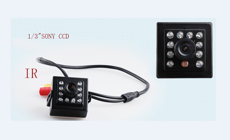 HD mini cctv camera 800TVL 1/3SONY IR CCD 10 light infrared LED night vision Mini CCTV Security Video Camera for RC FPV camera aomway 1200tvl 960p ccd hd mini camera 2 8mm lens for fpv