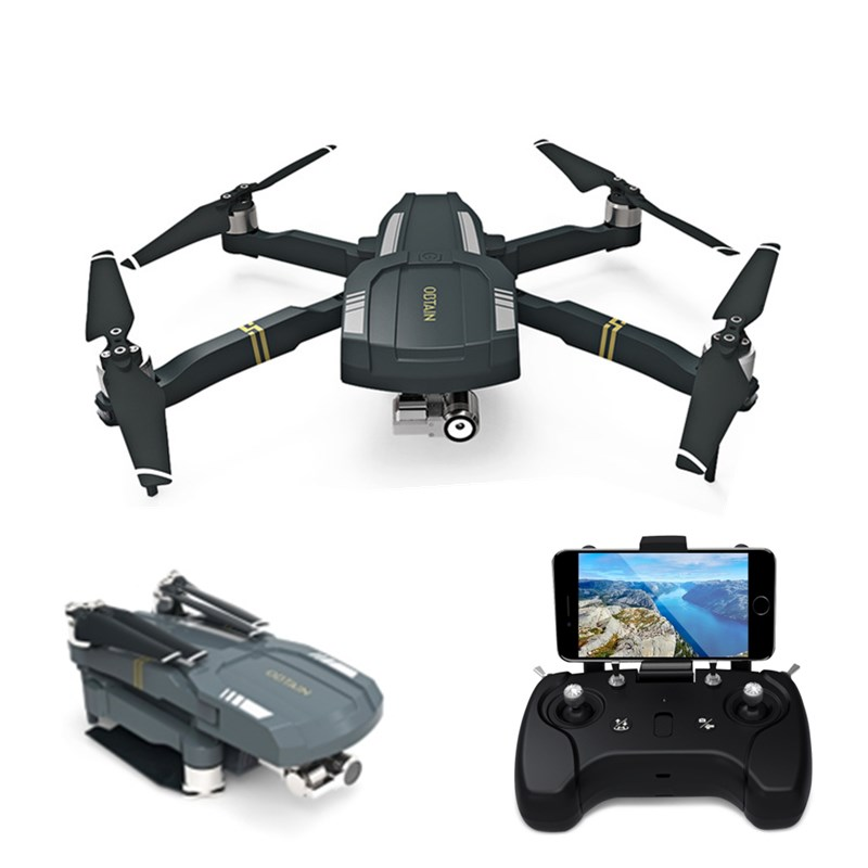 C-FLY OBTAIN Foldable RTF RC Quadcopter GPS WiFi FPV 1080P HD Drone with Camera 3-axis Stabilization Gimbal Follow Me Mode with two batteries yuneec q500 4k camera with st10 10ch 5 8g transmitter fpv quadcopter drone handheld gimbal case