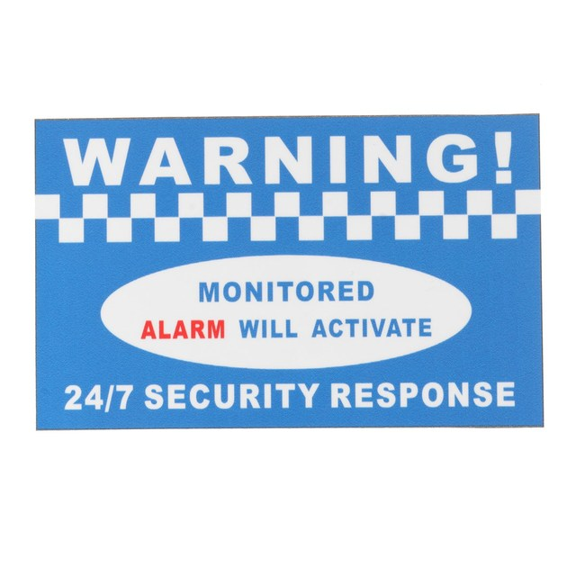 Doberman Security Home Security Stickers, Red