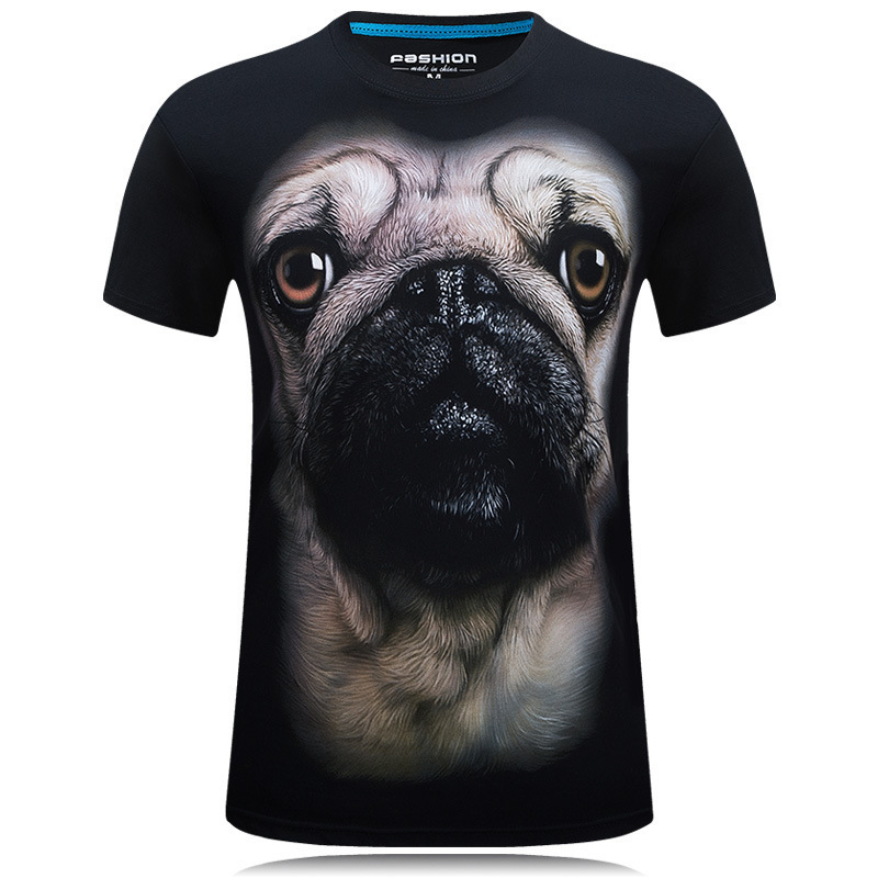 3D printed t-shirts Dog print funny t-shirt fashion short sleeve women men Hip hop Top t male shirt homme slim fit