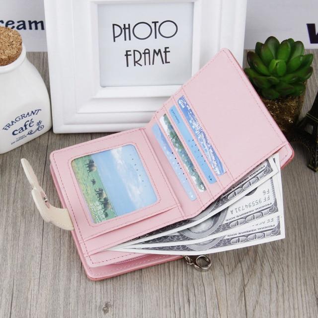 Women small wallet cartoon mickey cute coin purse hasp card holder womens wallet 2