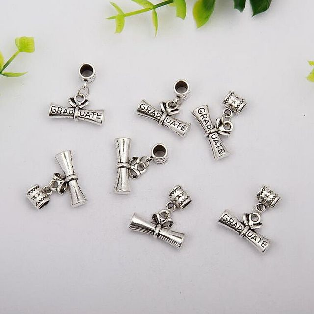 pcs hot sell fashion antique silver diploma postgraduate  100 pcs hot sell fashion antique silver diploma postgraduate charms pendants jewelry accessories diy holiday gifts