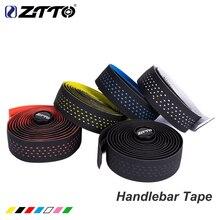ZTTO шоссейная велосипедная лента высокого качества Прочная вибрационная демпфирующая Антивибрационная EVA PU изогнутая лента для руля+ 2 бар заглушки