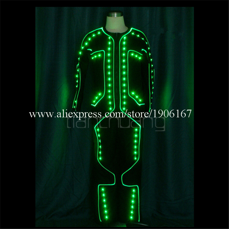 LED Light up Tron dance Costumes3
