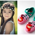 YNB Children Baby Mini Melissa Jelly Shoes for Girls New Pricess Shoes Girls Close Tole Sandals for Kids PVC Mixed Color Sandal