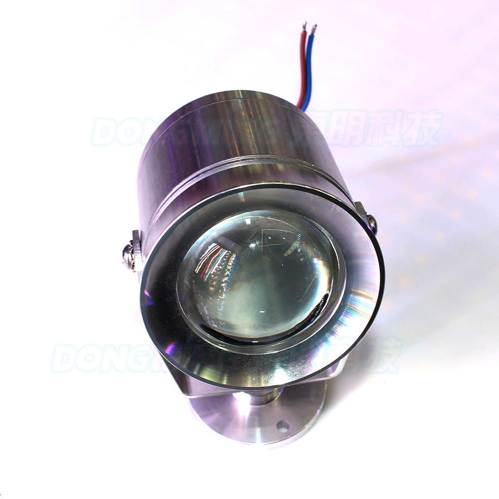 4pcs Silver cover underwater led light green red blue DC 12V 10W swimming pool lights convex lens underwater led lamp