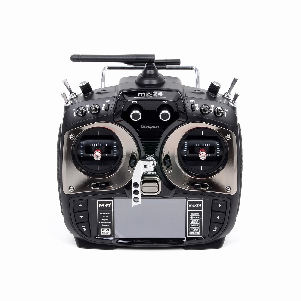 Graupner MZ-24 12 Ch 2.4GHZ Color TFT RC helicopter Remote Control RC Transmitter Quadcopter Remote Control Radio Receiver graupner mz 12 radio controller rc transmitter 2 4ghz 6 ch remote control system with gr 18 receiver for rc airplane helicopter