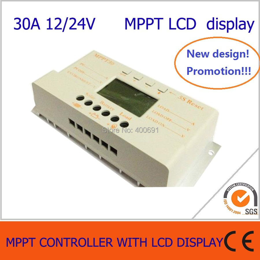 30A MPPT solar charge and discharge controller 12V 24V auto work with lcd display 5 5 inch 80w led work light 12v 60v dc led driving offroad light for boat truck trailer suv atv led fog light waterproof