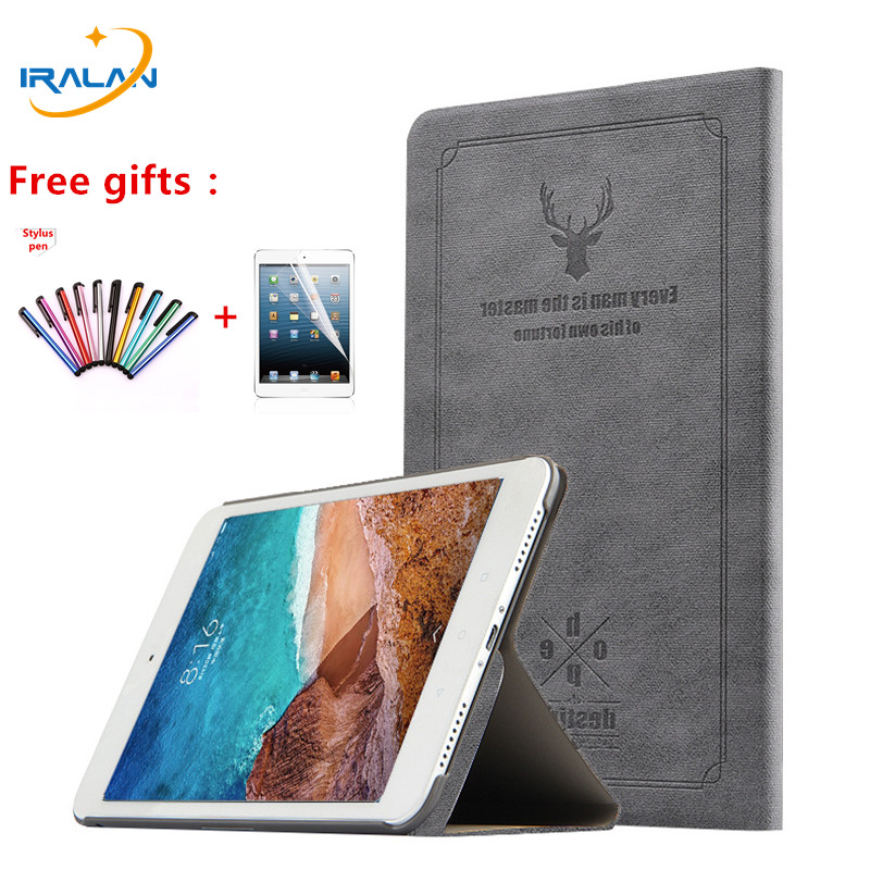 Deer Pattern Leather Case For Xiaomi Mi Pad 4 MiPad4 Mi pad4 mipad 4 8.0 2018 Tablet Flip Stand Protector Cover+screen film+pen цена и фото