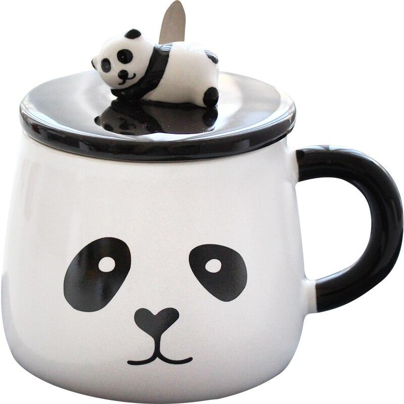 Cute lazy panda cup Panda ceramic mug Nice animal ceramic cup Black and white Nice gift mug