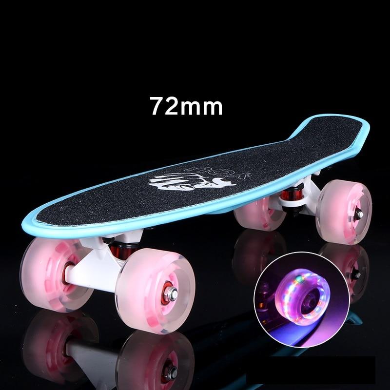 все цены на 2017 mini Cruiser Skateboard LED light Four wheel Skate board adult&children small skateboarding peny Board banana Long Board