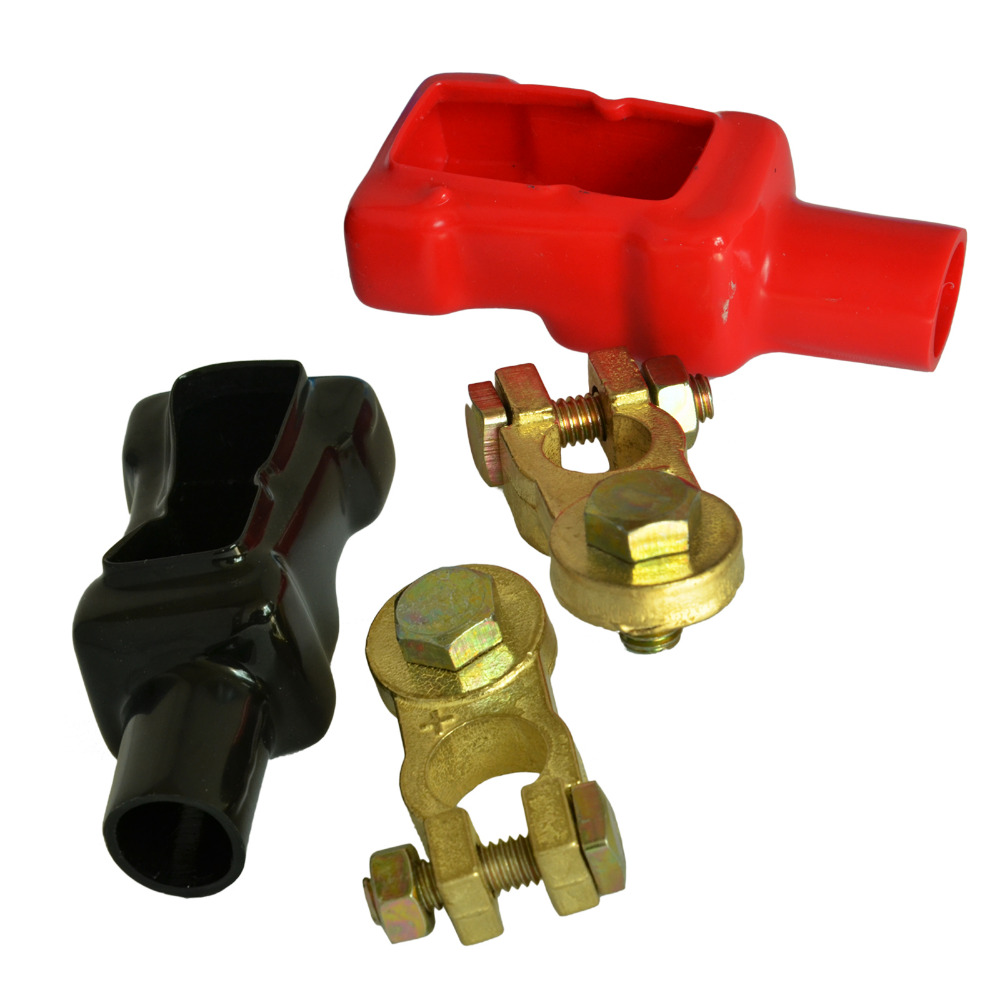 Set of 2 (positive) and (negative) Clamp Battery Terminal Clamp Clips Connector Car Truck Auto Vehicle Parts Brass Battery костюмы nike спортивный костюм nike m nk dry trk suit sqd k 807680 443