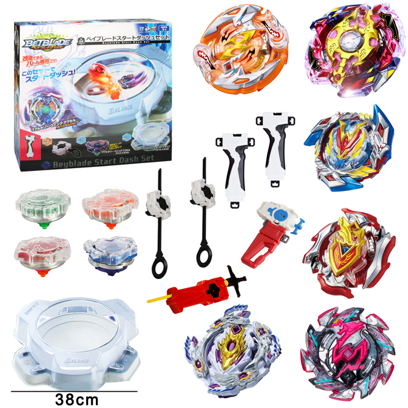 8pcs/set and Gyro Disk Launcher Metal Beyblade Bayblade Burst Toys Arena Combat Gyroscope Classic Hobbies Spinning Top Bey Blade