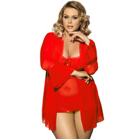 High Quality Plus Size 5XL Sexy Lingerie Dress Babydoll Lenceria Transparent Bathrobe Large Big Size Ropa Interior Mujer Women