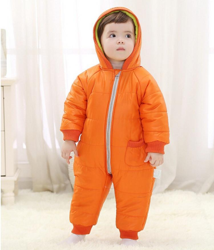 9-24Months Baby Winter Clothes Girl Boy Romper Warm Russian Baby Winter Jumpsuit Skiing Outerwear Clothing Colorful Snowsuit (17)