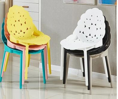 все цены на Simple plastic dining chair Nordic fashion casual creative back home coffee outdoor reception to discuss chairs.