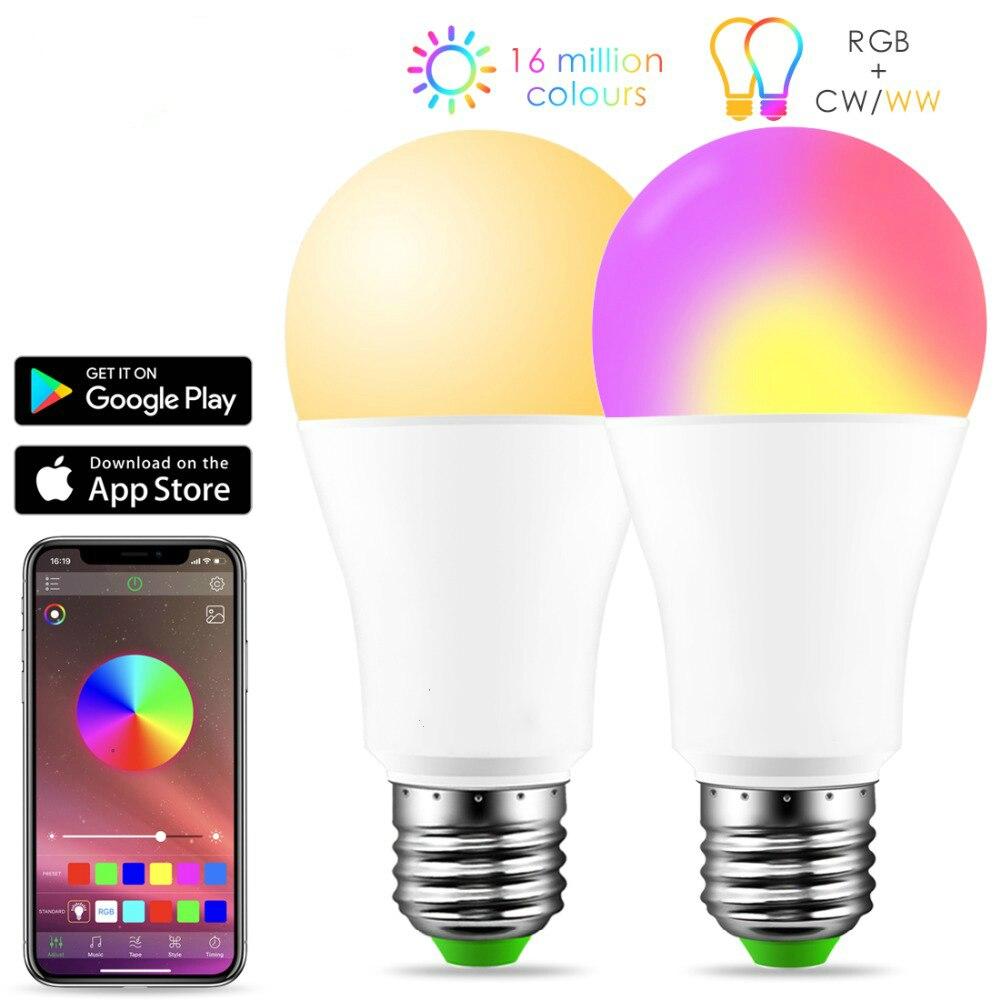New Wireless Bluetooth 4.0 Smart Bulb home Lighting lamp 10W E27 Magic RGB +W LED Change Color Light Bulb Dimmable IOS /AndroidNew Wireless Bluetooth 4.0 Smart Bulb home Lighting lamp 10W E27 Magic RGB +W LED Change Color Light Bulb Dimmable IOS /Android