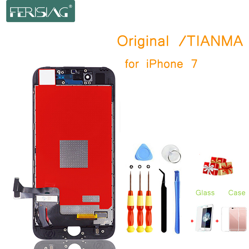 I7 OEM/TIANMA Tela Lcd Display LCD Para iphone 7 Parte Fábrica de Vidro Do Painel de Toque Digitador Assembléia Completa para iphone 7