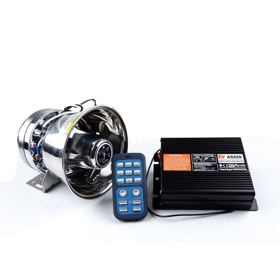 Amplificador de 200 W AS990 Sirena de Policía con Plata Altavoz PA Sirena de Ala