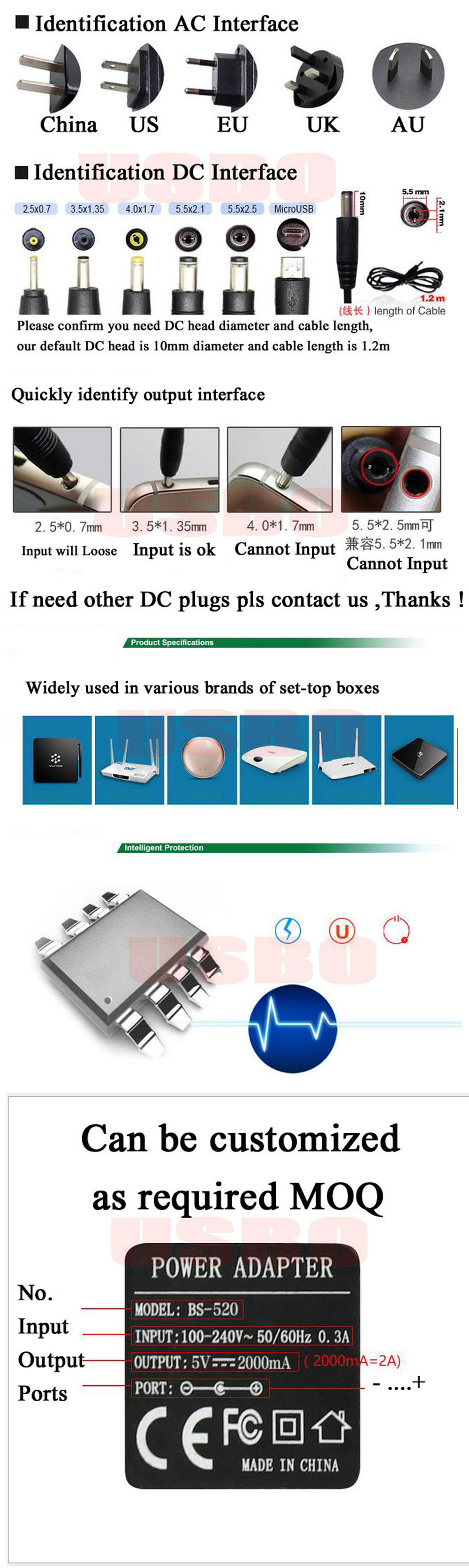 Цена по прейскуранту завода-изготовителя 6v 500MA 0.5A 5,5*2,5 мм 5,5*2,1 мм 100-240V EU/US AC к DC постоянного тока, адаптер питания Зарядное устройство для приборы для измерения кровяного давления
