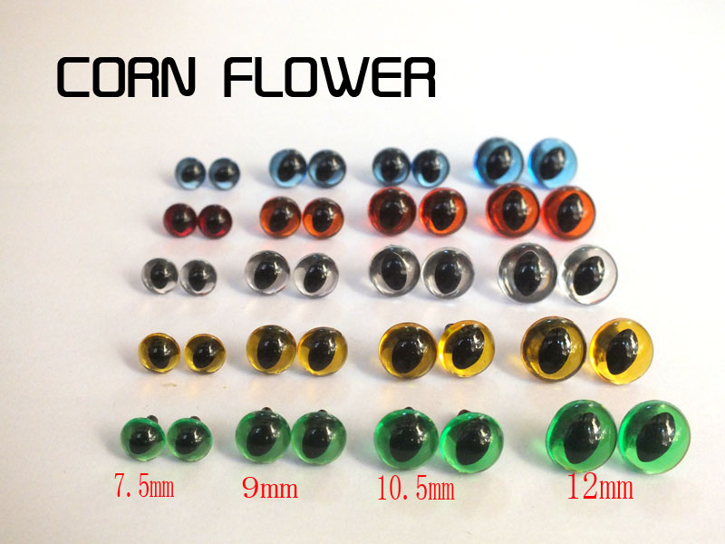 50pcs 7.5mm-12mm Cat Eyes/ Safety Eyes / Come With Washers -- You Can Choose Your Favorite Color And Size