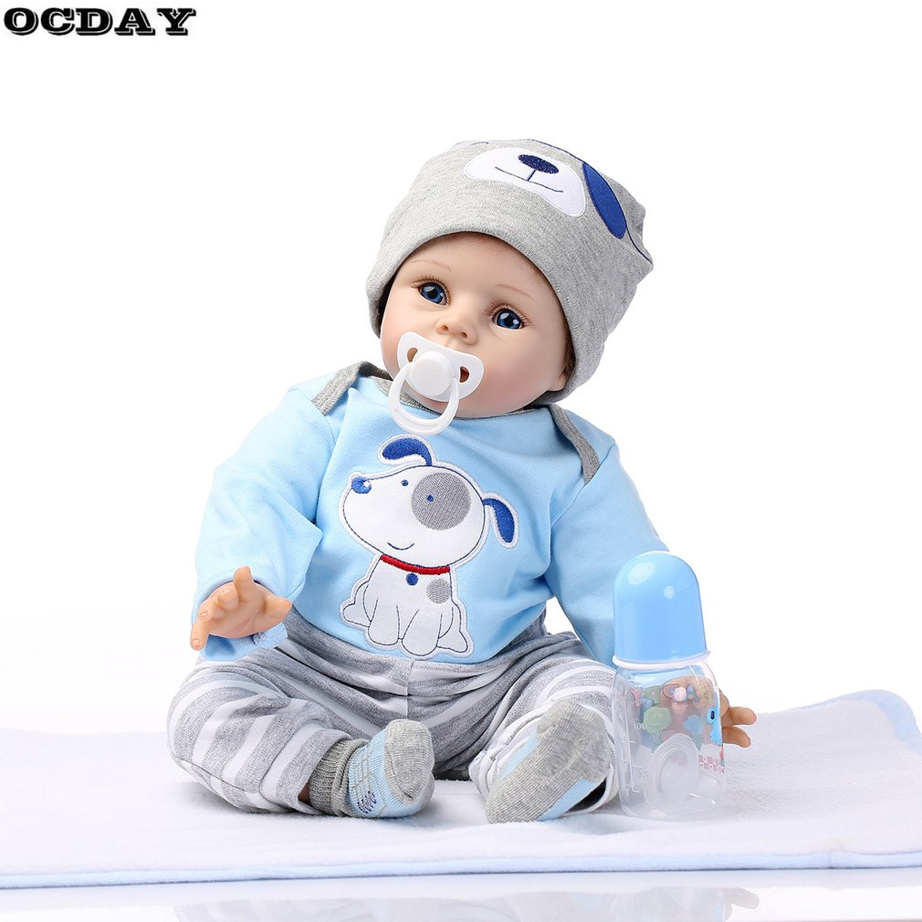 OCDAY Realistic Reborn Baby Dolls Toys 55cm Soft Full Silicone Lifelike Newborn Doll Girl Birthday New Year Gift New Hot Sale hot sale 2016 npk 22 inch reborn baby doll lovely soft silicone newborn girl dolls as birthday christmas gifts free pacifier