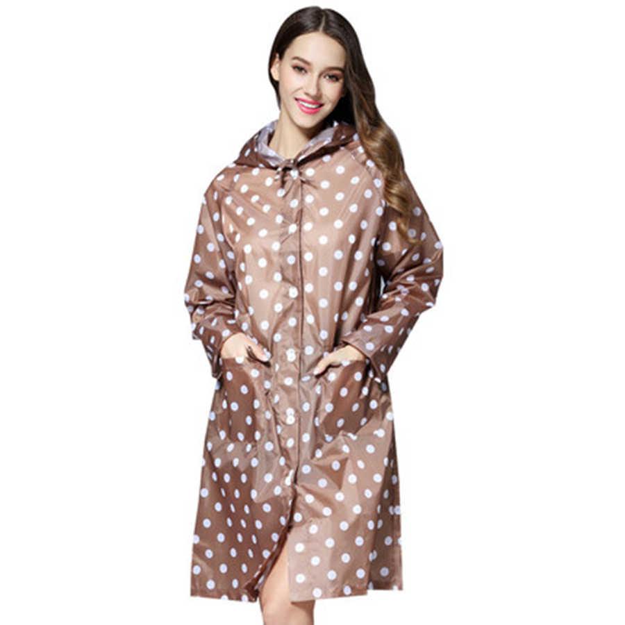 Летний женский плащ, водонепроницаемая верхняя длинная крышка, дождевик, костюм, накидка, дождевик для взрослых 50KO178