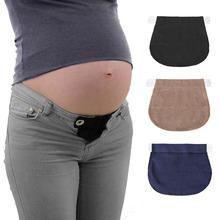 2019 Pregnant Belt Pregnancy Support Maternity Pregnancy Waistband Belt Elastic Waist Extender Pants cheap COTTON Pants Capris WOMEN Natural Color Loose Button
