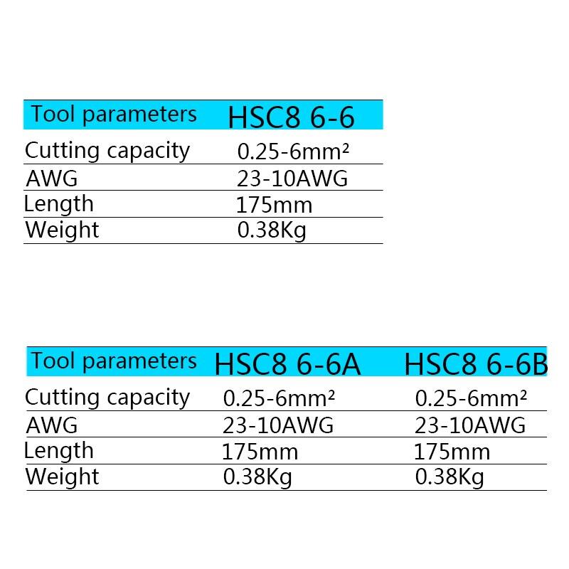 Купить с кэшбэком HSC8 6-6 0.25-6mm 23-10AWG Adjustable Hexagon Tube Bootlace VE Terminal Connectors Crimping Pliers Crimp Hand Tools Ferramentas