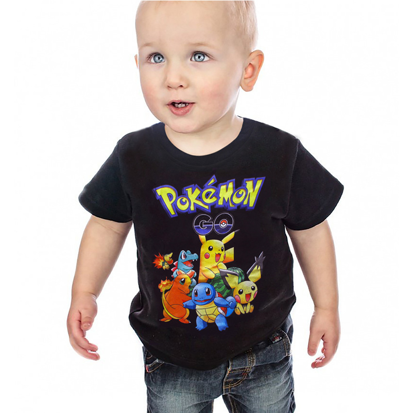 Summer Children Shorts t-shirts cotton Pokemon Go Kids boys girls tops tees t shirts for 3-10Years baby boys pikachu clothes boys cotton clothes sets for children summer outfit kids camouflage t shirts